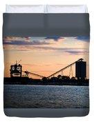 Dockside Sunset Duvet Cover