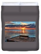 Dockside Sunset By H H Photography Of Florida Duvet Cover