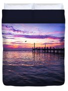 Dockside Sunset Duvet Cover