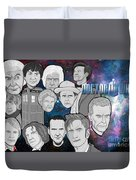 Doctor Who Collage Duvet Cover by Gary Niles