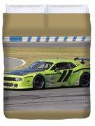 Dodge Challenger At Daytona Speedway Duvet Cover