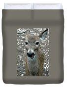 Doe Eyed Deer Talk Duvet Cover