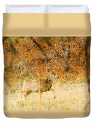 Doe High Stepping On Bald Mountain Duvet Cover