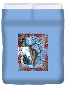 Doe In The Snow Duvet Cover