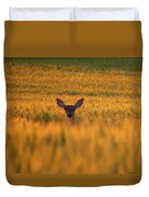 Doe In The Wheat Duvet Cover