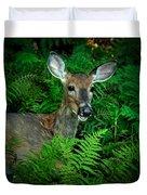 Doe In The Woods Duvet Cover