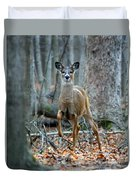 Doe On The Move Duvet Cover