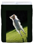 Dog - Jumping Duvet Cover