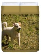 Dog And A Ball Duvet Cover