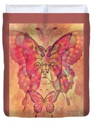 Dog And Butterfly Duvet Cover