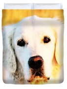 Dog Art - Golden Moments Duvet Cover