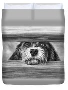 Dog At Gate Duvet Cover