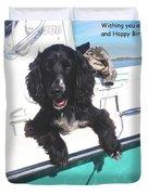 Dog Happy Birthday Card Duvet Cover