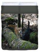 Dog On A Log Duvet Cover