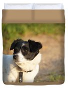 Dog On Sun Duvet Cover