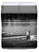 Dog On The Lake #2 Duvet Cover