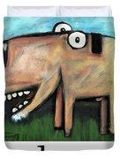 Dog Poster Duvet Cover