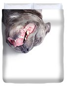 Dog Rolling Over And Playing Dead Duvet Cover