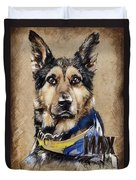 Dog Traditional Drawing Duvet Cover