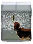 Dog Vs Perch 4 Duvet Cover