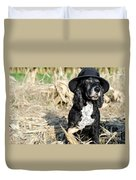 Dog With A Hat Duvet Cover