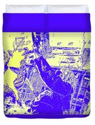 Doge Jumps For Treat 6 Duvet Cover