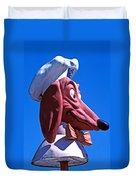 Doggie Dinner Sign Duvet Cover by Garry Gay