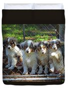 Dogs. Let Us Out #2 Duvet Cover