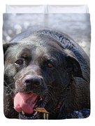 Dogs Sticks And Ponds Duvet Cover