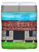 Dogtrot Cracker Home  Duvet Cover