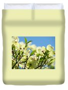 Dogwood Flowers Art Prints Canvas White Dogwood Tree Blue Sky Duvet Cover
