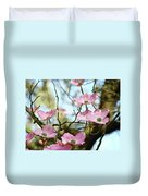Dogwood Flowers Pink Dogwood Tree Landscape 9 Giclee Art Prints Baslee Troutman Duvet Cover
