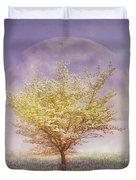 Dogwood In The Lavender Mist Duvet Cover