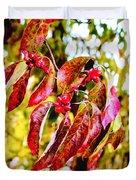 Dogwood Leaves Duvet Cover