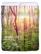 Dogwoods In The Forest Duvet Cover
