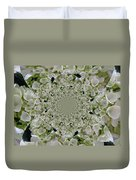 Doily Of Flowers Duvet Cover