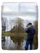 Doing Photo Duvet Cover