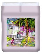 Doll House In Turre Duvet Cover