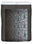 Dollars Duvet Cover