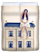 Dolly And Her House Duvet Cover