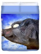 Dolly Under The Smiling Moon Duvet Cover