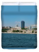 Dolmabahce Palace On The Bosphorus Duvet Cover