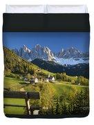 Dolomites View Duvet Cover