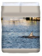 Dolphin By The Dock Duvet Cover