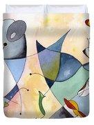 Dolphin Garden Duvet Cover