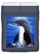 Dolphin Laughing Duvet Cover