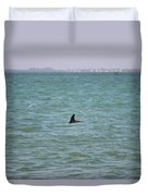 Dolphin Makes An Appearance Duvet Cover