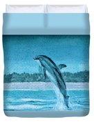 Dolphin Mural Duvet Cover