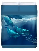 Dolphin World Duvet Cover by Corey Ford