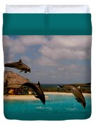 Dolphins Fly Duvet Cover